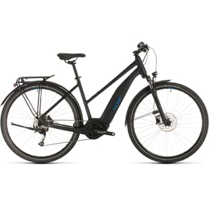 CUBE Touring Hybrid ONE 400 black´n´blue Trapez 2020
