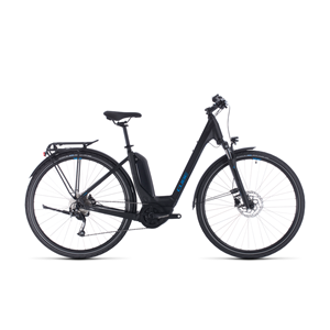Cube Touring Hybrid ONE 50cm Easy entry 500wh black´n´blue