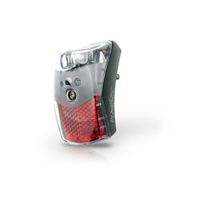 SPANNINGA Rear light Pixeo Xb Black 2 x AAA, Battery, 18 hrs