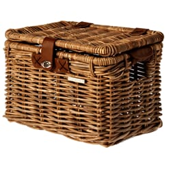 Basil Sykkelkurv Denton L  Rattan 45x32x32cm Nature Brown